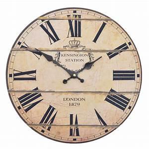 Wanduhr Römische Ziffern : tolle wanduhr london 1879 grau vintage uhr k chenuhr 30cm mdf uhr ebay ~ Watch28wear.com Haus und Dekorationen
