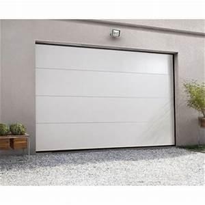 porte de garage au meilleur prix leroy merlin With porte de garage sectionnelle motorisée hormann