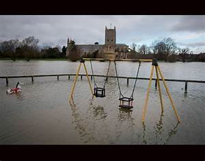 The flood of tewkesbury covers playground storms high