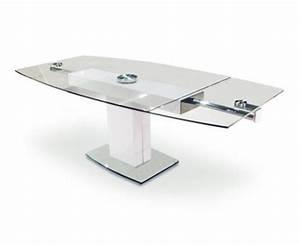 Table Verre Extensible : table de repas extensible en verre sur deco and me ~ Teatrodelosmanantiales.com Idées de Décoration