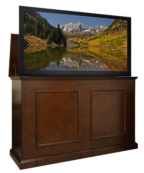 tv lift cabinets for flat screens grand elevate espresso tv lift cabinet for flat panel tvs