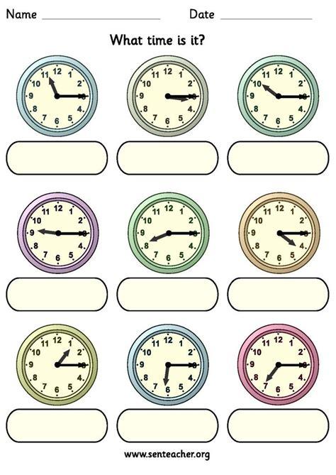 worksheet analogue clocks showing quarter times
