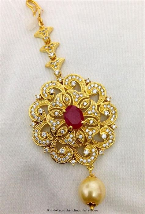 Wedding Maang Tikka Designs ~ South India Jewels
