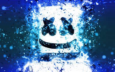 4k Resolution Neon Marshmello Wallpaper 3d by Wallpapers Marshmello 4k Blue Neon American Dj