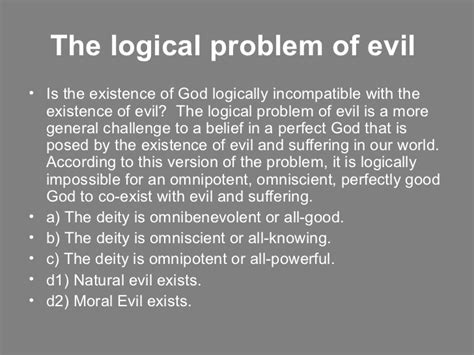 Problem Of Evil Essay by The Problem Of Evil