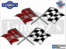 1957 Chevy & Corvette Fuel Injection Cross XFlag Fender