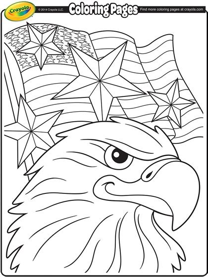 independence day eagle coloring page crayolacom
