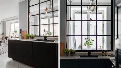 cuisine ouverte verriere mur de verre fenêtre verrière cloison que choisir