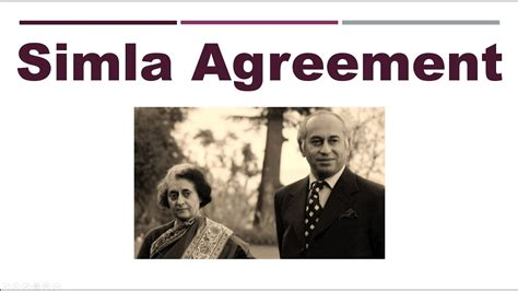 simla agreement understand   secs youtube