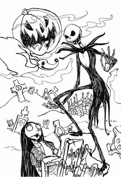 Jack Skellington Coloring Pages Fan Printable Drawing