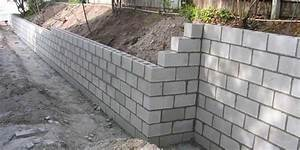 how much does it cost to build a retaining wall in 2018 With building a garden wall with concrete blocks