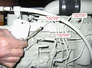 Cummins Marine 4b  4bt  4bta Boost Fitting Location