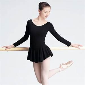 Girls Adult Ballet Dress Black Full Cotton Ballet Tutu ...