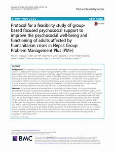 (PDF) Protocol for a feasibility study of group-based ...