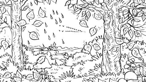 disegni con acquerelli per bambini disegni per bambini bosco autunno fare di una mosca
