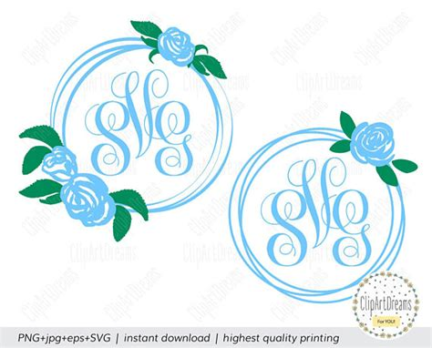 baby boy monogram frame svg flower monogram frame svg circle