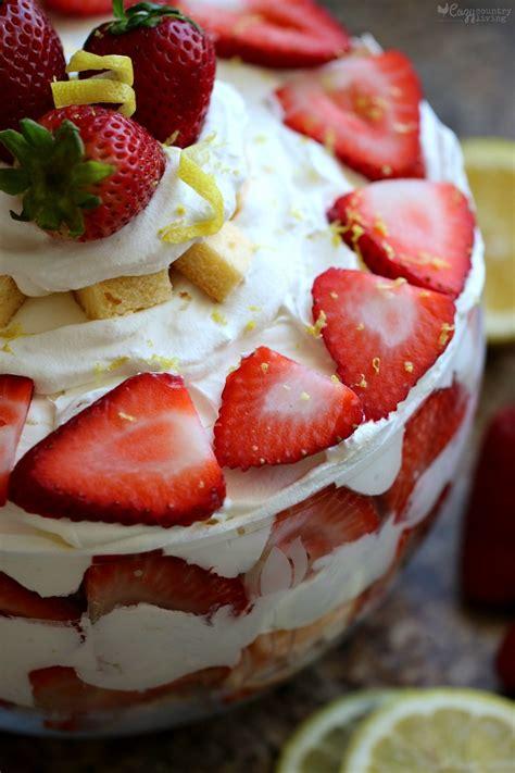 country kitchen strawberry pound cake strawberry lemon pound cake trifle cozy country living 8457