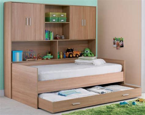 Children's Overbed Storage Unit + Storage Bed Single In