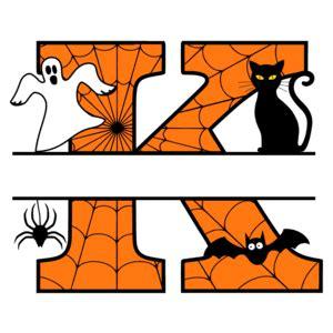 printable halloween monogram letters personalizable clip art patterns monograms stencils