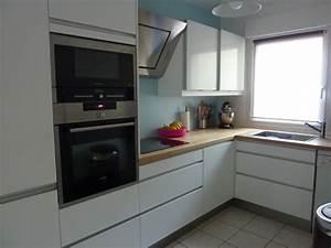 Ikea Cuisine Blanche : cuisine blanche laqu e sans poign es ikea cuisine en image ~ Melissatoandfro.com Idées de Décoration