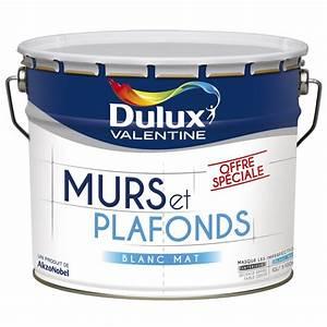 peinture dulux valentine serie speciale blanc mat 10l With peinture murs et plafonds