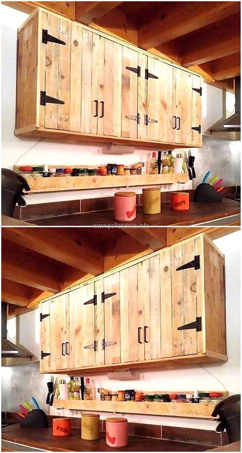 Kitchen Cabinet Doors From Pallets by Best 25 Pallet Kitchen Cabinets Ideas On