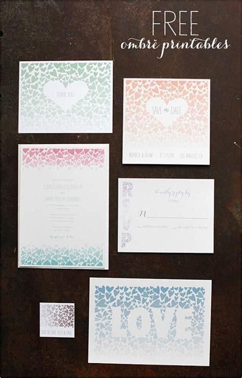 DIY Hochzeitseinladung Vorlagen Ombre wedding