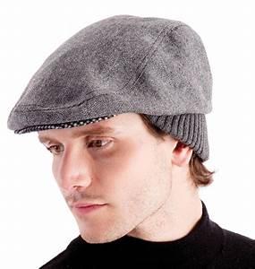 Mens Peak Cap Winter Hat Flat Cap Classic Warm Formal Soft ...