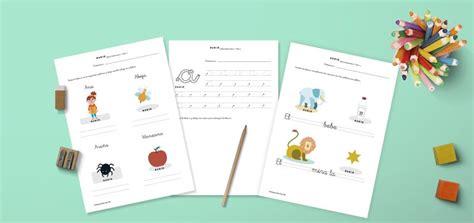 Fichas de lectoescritura para niños de 5 años | Teaching ...
