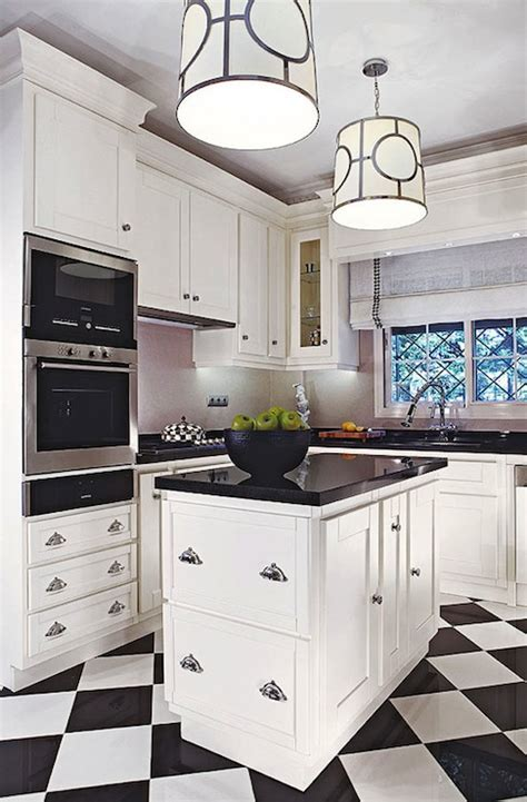 Checkered Floor   Contemporary   kitchen   Traditional Home