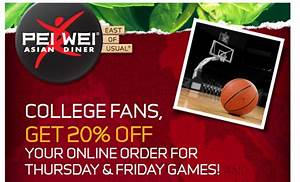 Pei Wei: 20% Off Your Online Order Today or Tomorrow ...