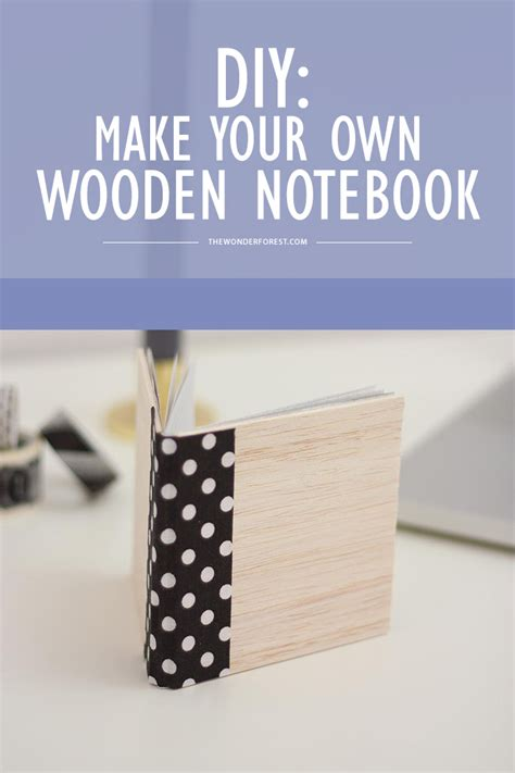 diy    wooden notebook  forest