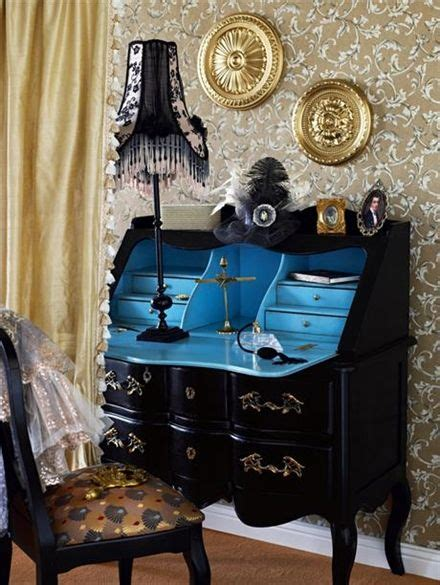 bureau turquoise side curtain 4300 sek gold sprayed ceiling