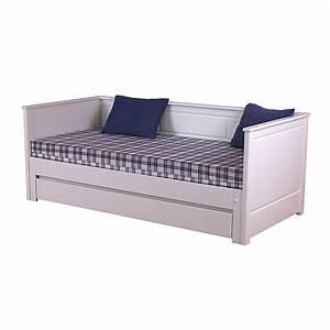 lit banquette gigogne avec tiroir erik lits 1 place With tapis de yoga avec banquette lit canapé