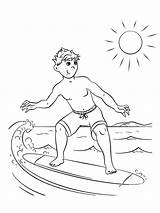 Surfing Colouring Pages Coloringpage Coloring Holidays Colour Check Category sketch template