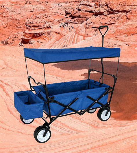 wagon with canopy outdoor folding wagon canopy garden utility travel cart