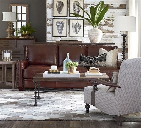 Bassett Furniture Living Room Contemporary With Dark Brown