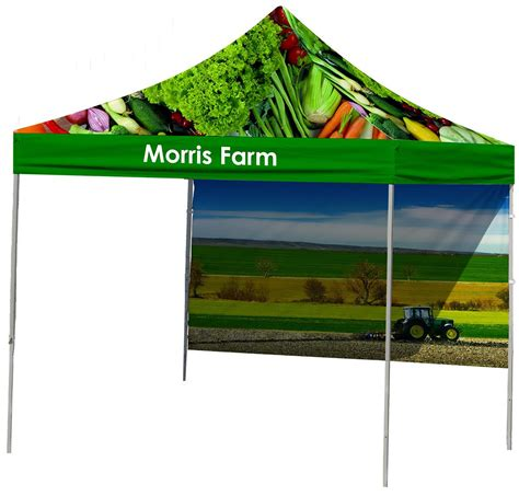 custom printed canopy top backwall printing