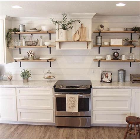 best 25 industrial farmhouse decor ideas on wood and pipe shelves shelves with