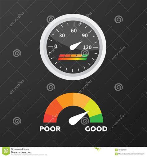 gauges vector set credit score indicators vector