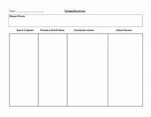 blank care plan sheets pictures to pin on pinterest With nursing care plan format template