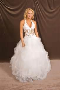 wedding dress corset top halter low cut see thru corset wedding gown