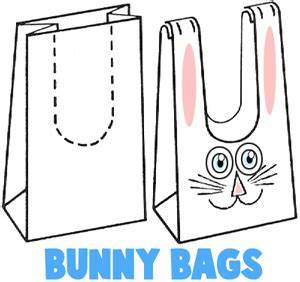 easter bunny crafts for kids ideas to make bunnies with With paper bag bunny template