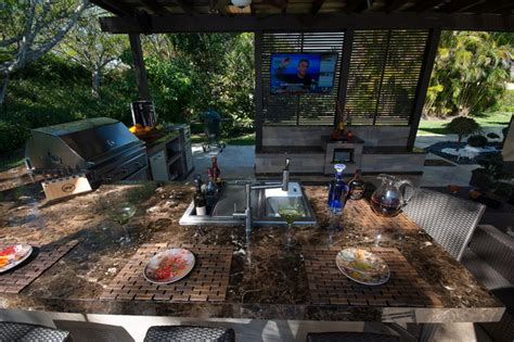 The Patio Westhton by Outdoor Kitchen And Pergola Project In Weston Florida