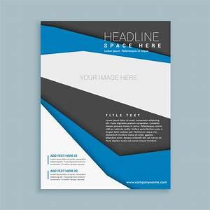 Free Leaflet Template Modern Brochure Flyer Template Download Free Vector Art