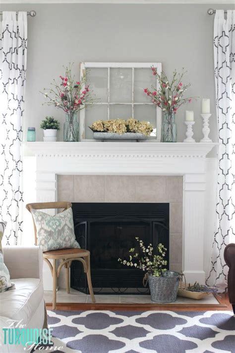 Decorating  Mantelpiece  Spring