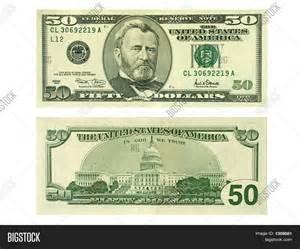 50 Dollar Bill Back