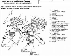 2005 Honda Civic Exhaust System Diagram