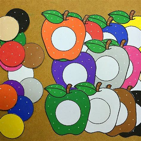 color matching activities for preschool apple color match 941