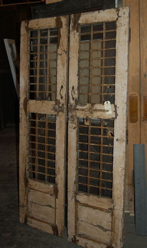 antique egyption wood  iron doors accent decor pantry
